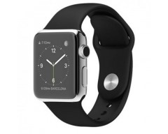 Apple Watch 38mm Stailnless Steel Case with Black Sport Band (MJ2Y2)